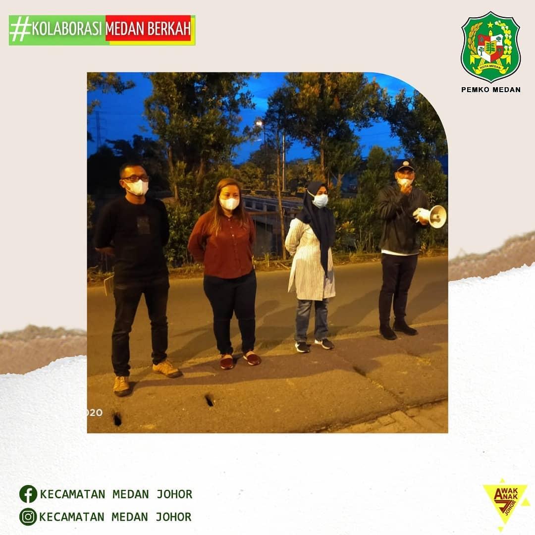 Camat Medan Johor Zulfakhri Ahmadi, S. Sos Pimpin Apel Pemantauan dan Pencegahan Asmara Subuh